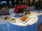 Some appetizers that were provided at the Winter Reception