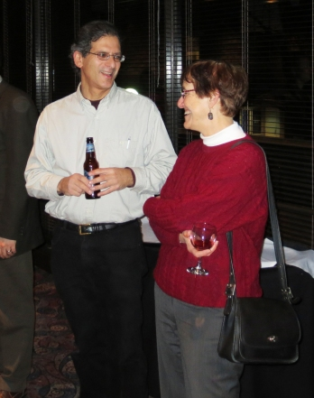 Professors Finke and Koenker talking at the Reception