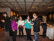 Students enjoying the Winter Reception