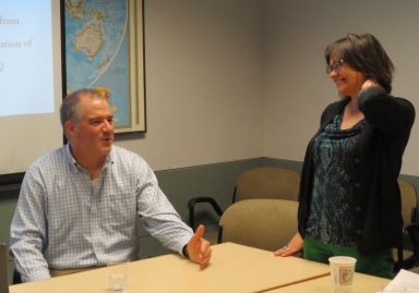 Prof. Gerber with Prof. Zsuzsa Gille (Sociology, University of Illinois)