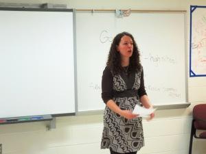 Nellie Manis teaching Russian