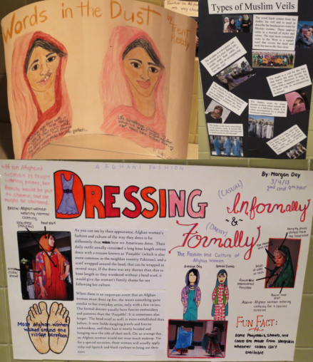 Collage of posters prepared by Tuscola middle school students