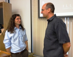 Prof. Aaron Retish with Prof. David Cooper