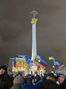 Independence Square in Kiev (Photo courtesy of Areta Kovalsky)