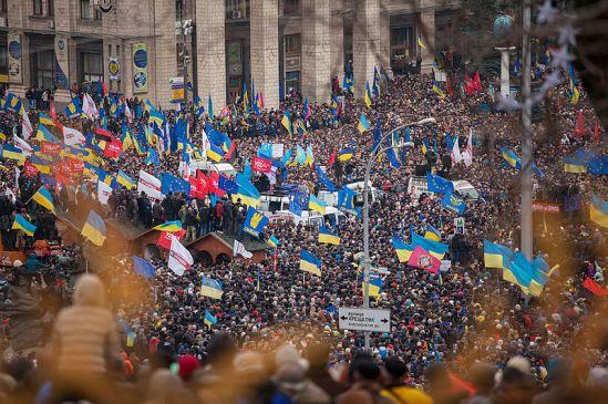 Protesters on Kiev's Maidan Sqaure