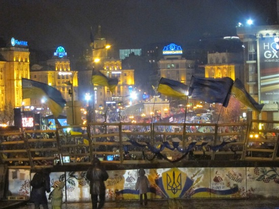 Barricades at Maidan in Kyiv (December 2013)