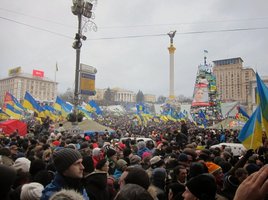 A Sunday national assembly on Maidan in Kyiv in December