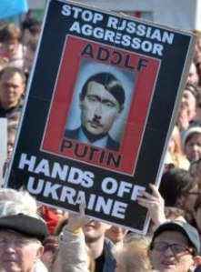 Poster at a demonstration in Kiev, March 2014