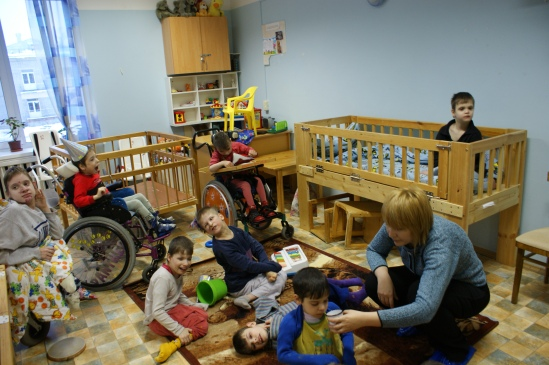 Children with severe impairments in the institutions in the Russian Federation. Credit: Ekaterina Evdokimova