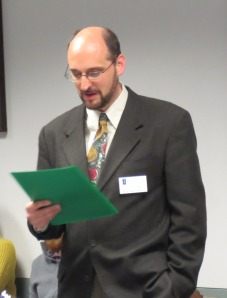 David Cooper (Director of REEEC) announcing the Summer 2014 FLAS recipients