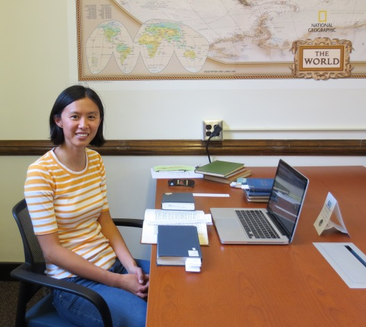 2014 Fisher Fellow Pey-Yi Chu in the International and Area Studies Library