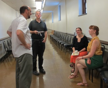 David Cooper (Director of REEEC) with SRL participants J. Eugene Clay (Associate Professor of Religious Studies, Arizona State University), Katherine Antonova (Assistant Professor of History, Queens College, CUNY), and Audra Yoder (Ph.D. Candidate in History, University of North Carolina at Chapel Hill)