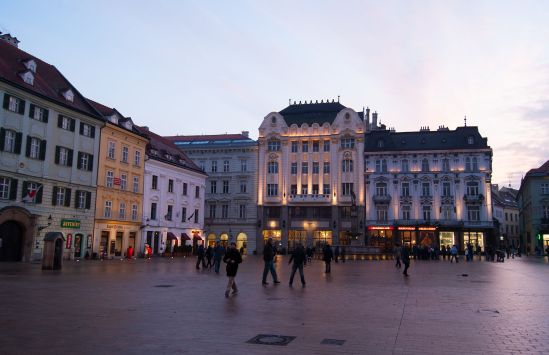 Main square in Bratislava