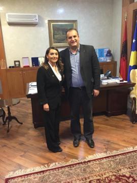Venera Bekteshi with Prishtina's Mayor.