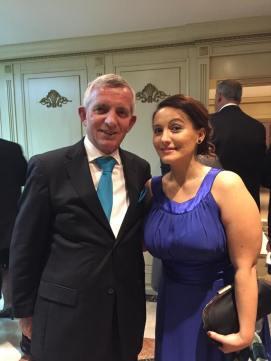 Venera Bekteshi with Albanian Ambassador to Kosova, Qemal Minxhozi.