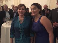 Venera Bekteshi with U.S. Ambassador to Kosova, Tracey Ann Jacobson.