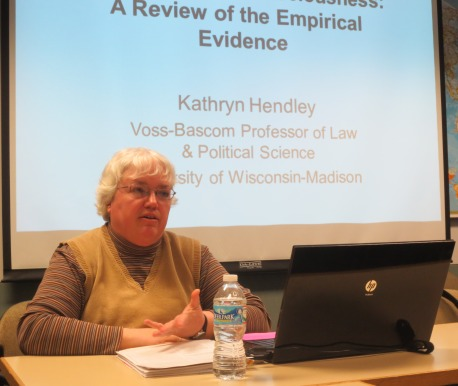 Prof. Kathryn Hendley giving her New Directions lecture