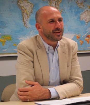 Prof. Branislav Radeljic giving his Noontime Scholars Lecture