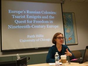 Professor of Russian History Faith Hillis, University of Chicago